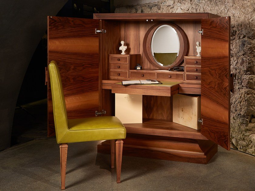 Walnut secretary desk / dressing table Secretary desk by Nouvel Espace