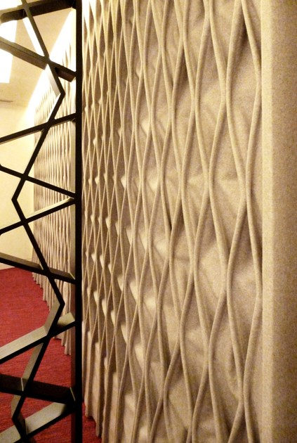 CABLE   Fabric decorative acoustical panel By Anne Kyyrö Quinn
