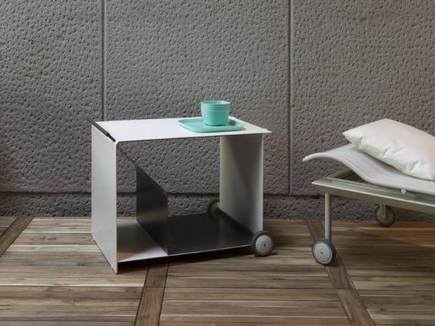 Aluminium coffee table / food trolley CABRIOLET by iCarraro