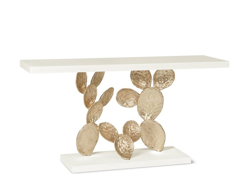 Lacquered rectangular stone console table CACTUS by Ginger & Jagger