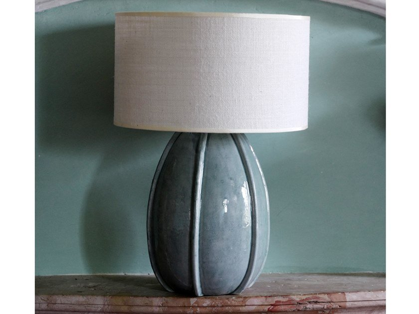 Direct-indirect light ceramic table lamp CACTUS | Table lamp by Cerasarda
