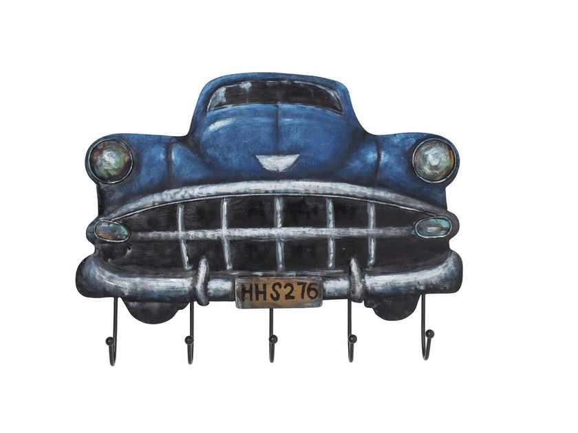 Wall-mounted steel coat rack CADILLAC BLUE by KARE-DESIGN