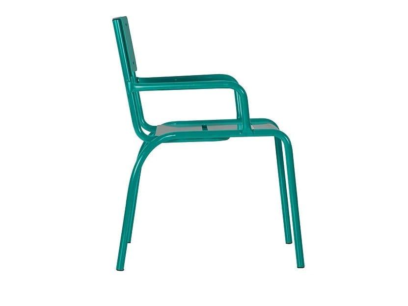 Seduta da esterni in metallo CADIRA | Sedia con braccioli by Euroform W