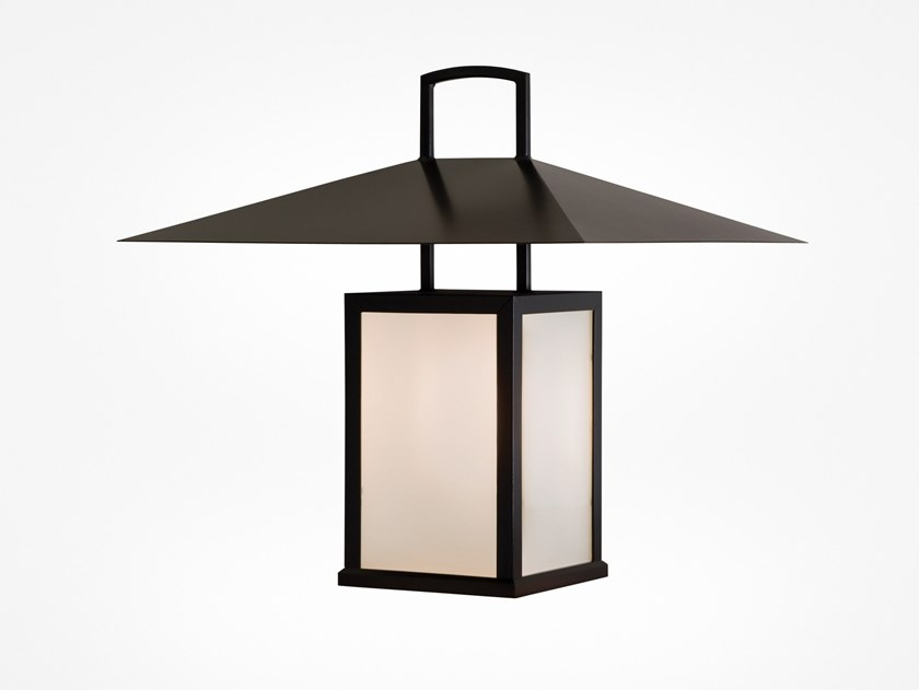 Direct light glass and steel pendant lamp CAELUM by Kevin Reilly Collection