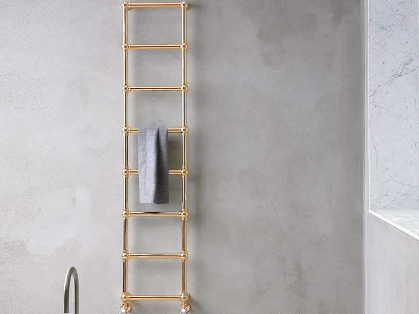Brass towel warmer CAESAR by Caleido