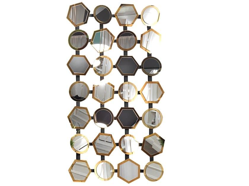 Wall-mounted mirror CAESAR | Mirror by Elledue Arredamenti