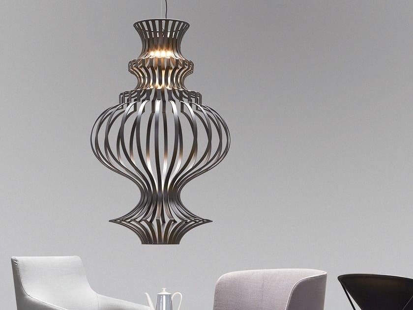 LED metal pendant lamp CAGE by M.M. Lampadari