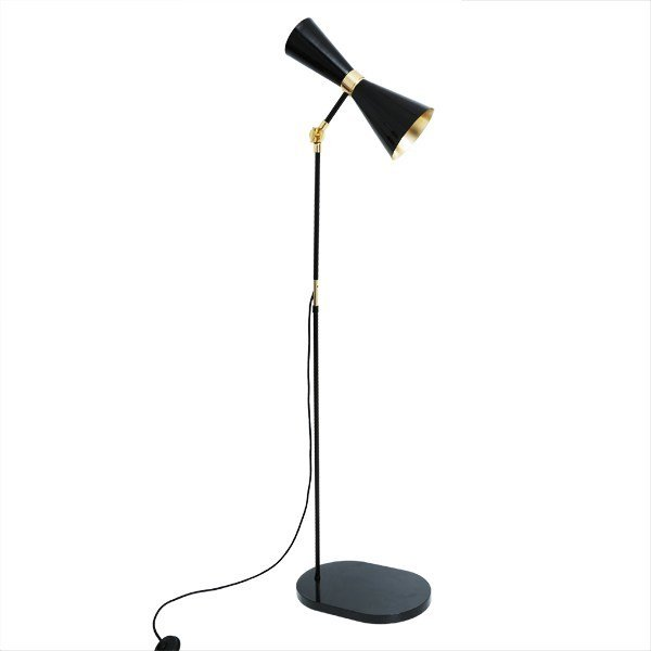 Handmade adjustable brass floor lamp CAIRO | Floor lamp by Mullan Lighting