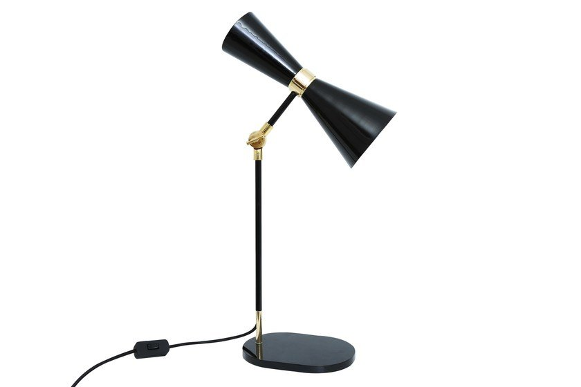 Handmade adjustable brass table lamp cairo table lamp by mullan lighting