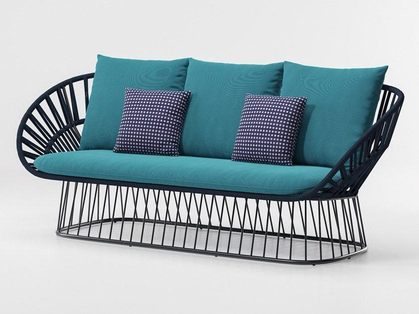 3 seater rope garden sofa CALA | 3 seater garden sofa by KETTAL