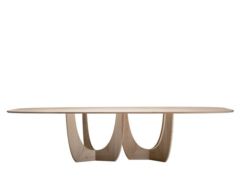Solid wood meeting table CALA | Table by more