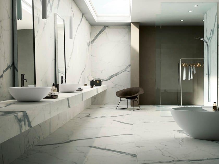 Pavimento rivestimento in gres porcellanato effetto marmo