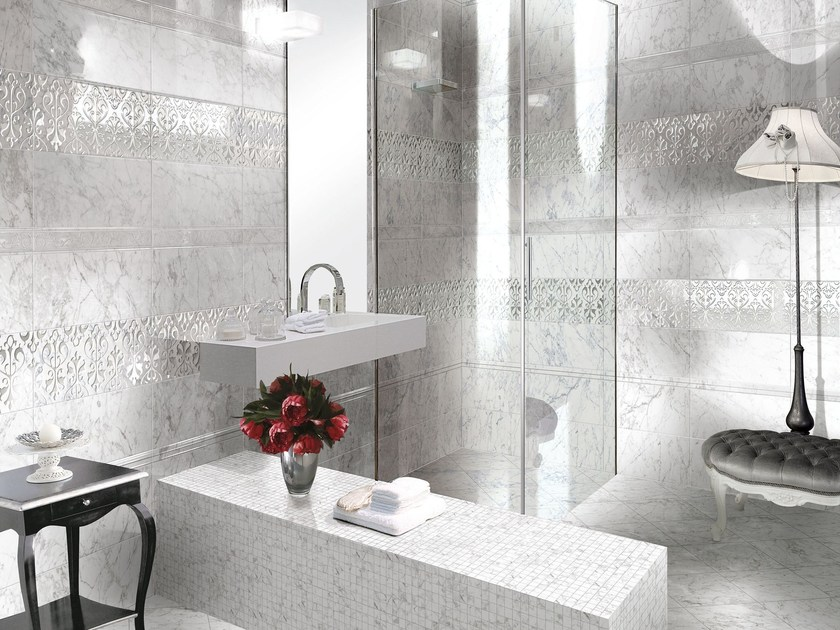 Wall/floor tiles with marble effect CALCATTA&CARRARA by CERAMICHE BRENNERO
