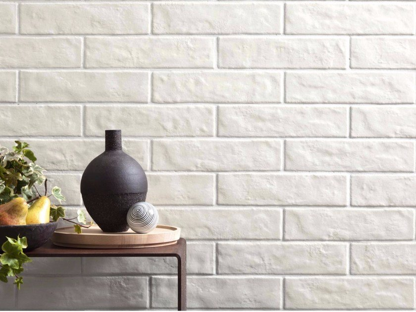 Porcelain stoneware wall tiles with brick effect CALCE by Ragno