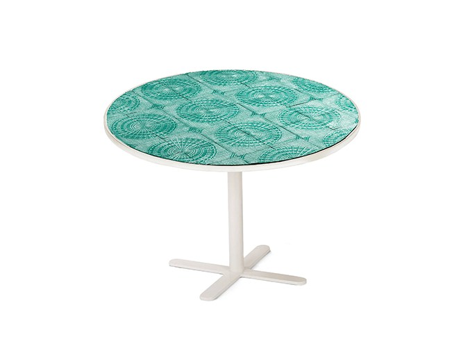 Round ceramic table with 4-star base CALDAS | Round table by Mambo Unlimited Ideas