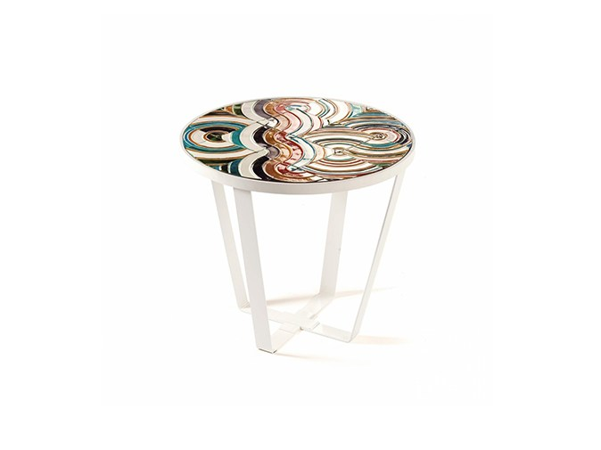 Round ceramic coffee table CALDAS | High side table by Mambo Unlimited Ideas