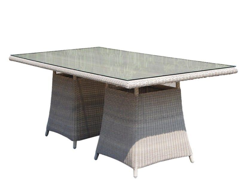 Tavolo da giardino rettangolare in polietilene CALDERAN 21120 by SKYLINE design