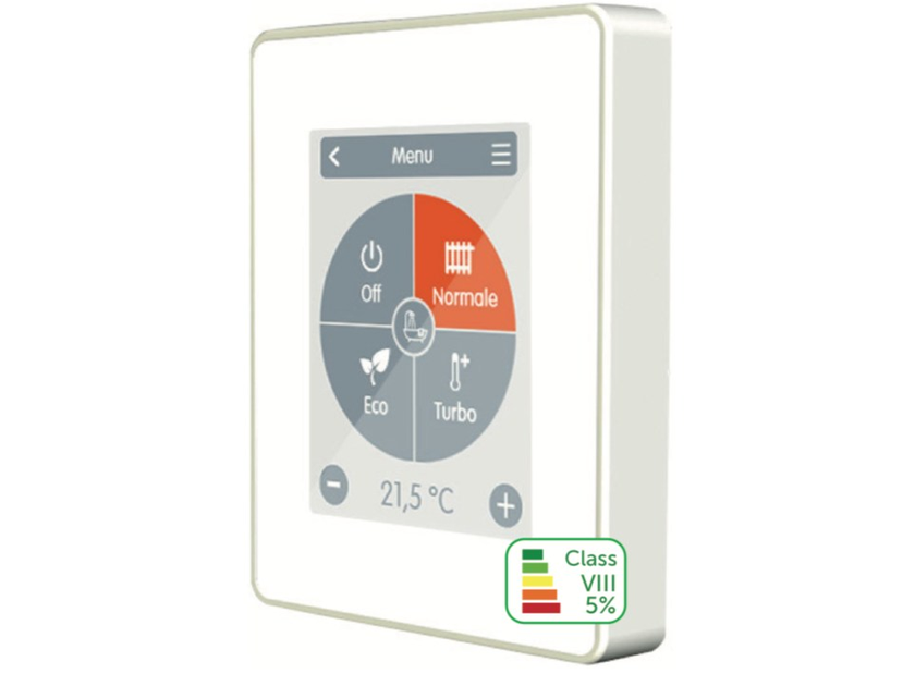 Touch screen room thermostat CALEON by Rossato Group