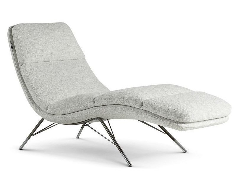 Upholstered fabric lounge chair CALIBRI by ROCHE BOBOIS