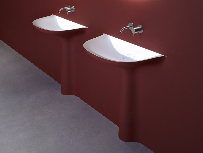 Semi-inset Corian® washbasin CALICE By Antonio Lupi Design design ...