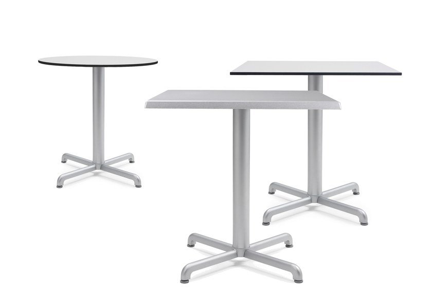 Contemporary style die cast aluminium contract table with 4-star base CALICE | Table by Nardi