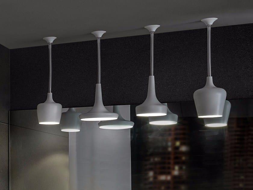 LED brass pendant lamp CALICES | Pendant lamp by tender rain
