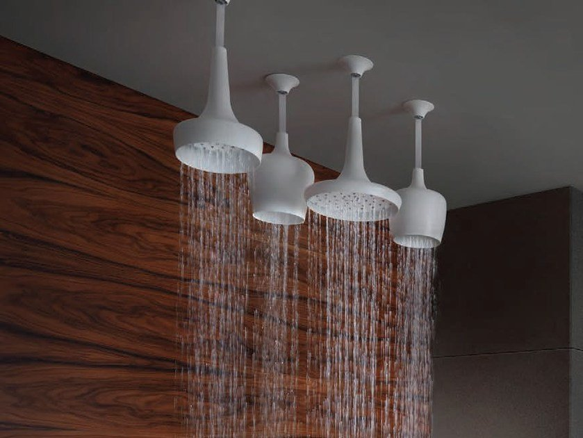 Ceiling mounted brass rain shower CALICES | Overhead shower by tender rain