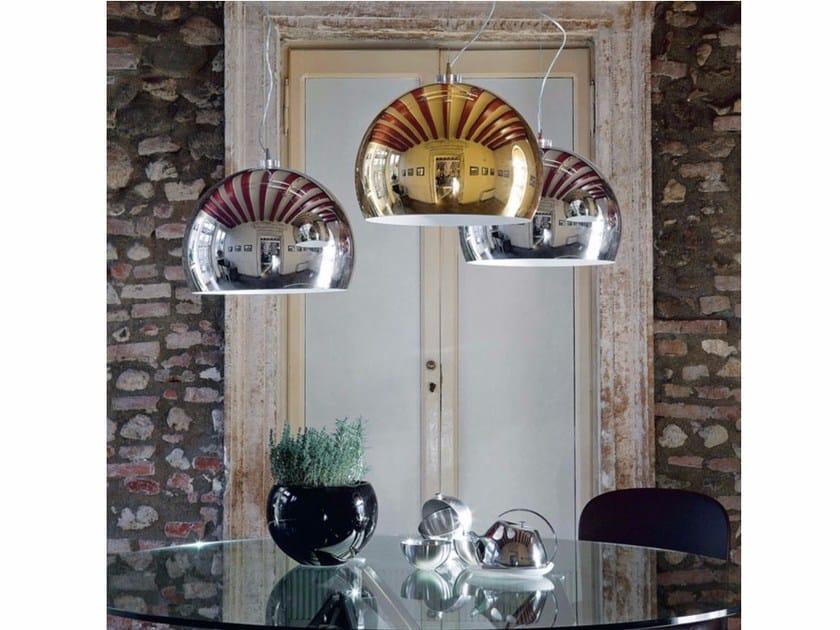 Chrome plated steel pendant lamp CALIMERO by Cattelan Italia