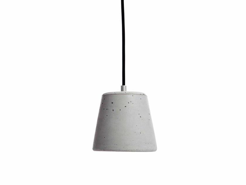 Concrete pendant lamp CALIX 14 by URBI et ORBI