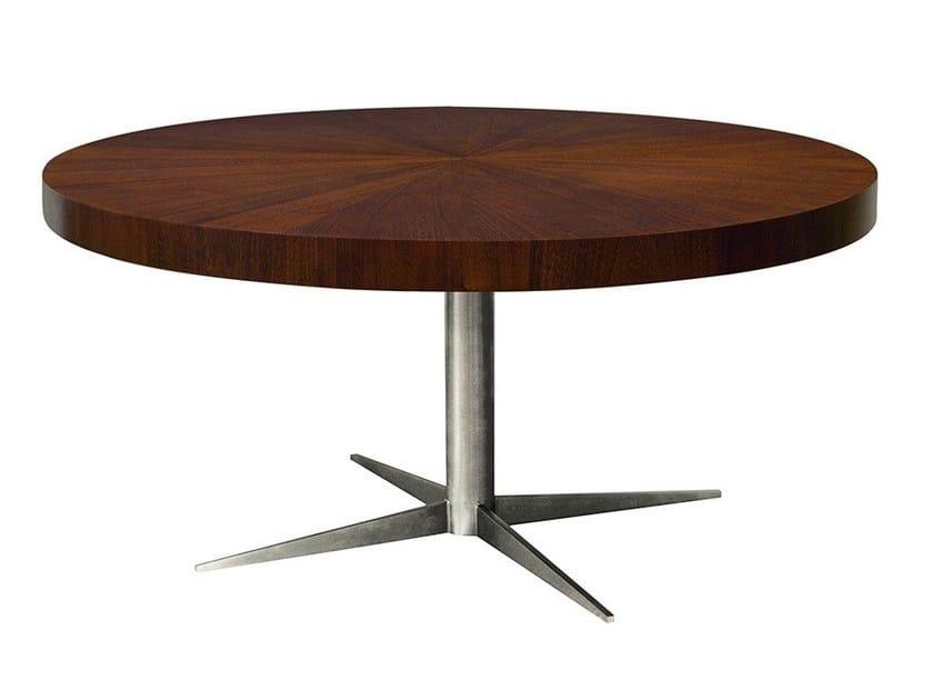 Coffee table with 4-star base CALIXTA | Round coffee table by Hamilton Conte Paris