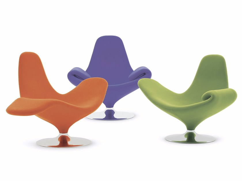 Upholstered easy chair with armrests CALLA by Paolo Castelli