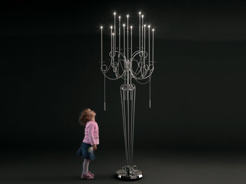 Lampada da terra a LED in acciaio CALLIGRAFICO | Lampada da terra by SP Light and Design