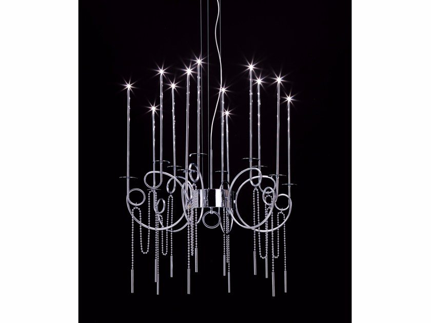 LED steel pendant lamp CALLIGRAFICO NITY 12L LED | LED pendant lamp by SP Light and Design