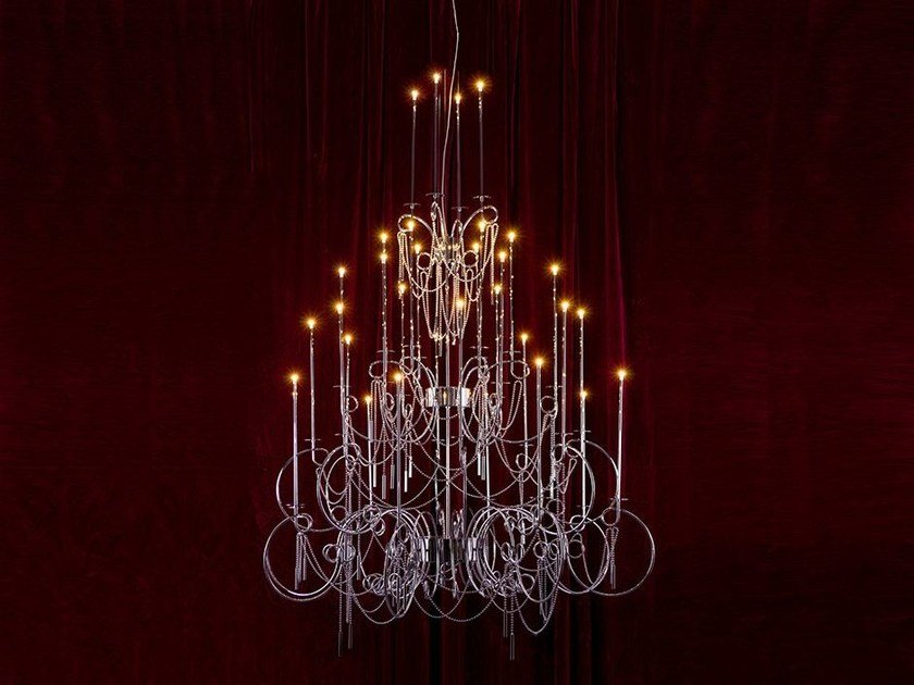 LED steel pendant lamp CALLIGRAFICO NITY 32 | LED pendant lamp by SP Light and Design