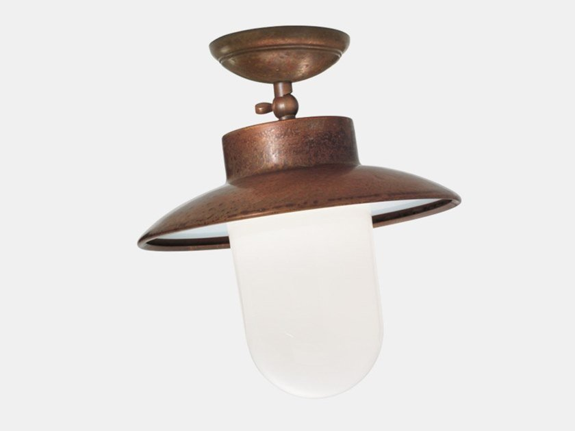 Metal outdoor ceiling lamp CALMAGGIORE 232.06.ORB by Il Fanale