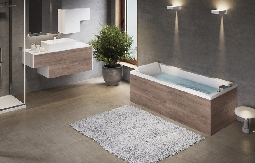 Vasca Da Bagno Novellini Calos : Vasca da bagno idromassaggio rettangolare calos novellini