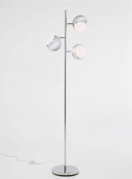 Steel floor lamp CALOTTA CHROME by KARE-DESIGN