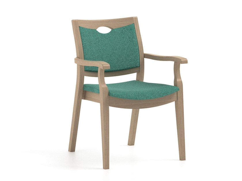 Fabric chair with armrests CALYPSO   HEALTH & CARE   Chair with armrests by PIAVAL
