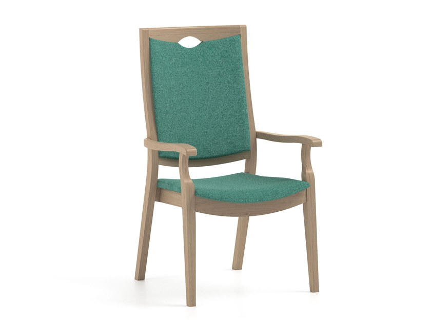 High-back fabric chair with armrests CALYPSO | HEALTH & CARE | High-back chair by PIAVAL