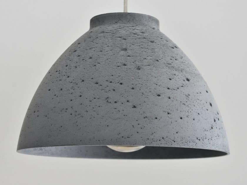 Concrete pendant lamp CALYX by betton