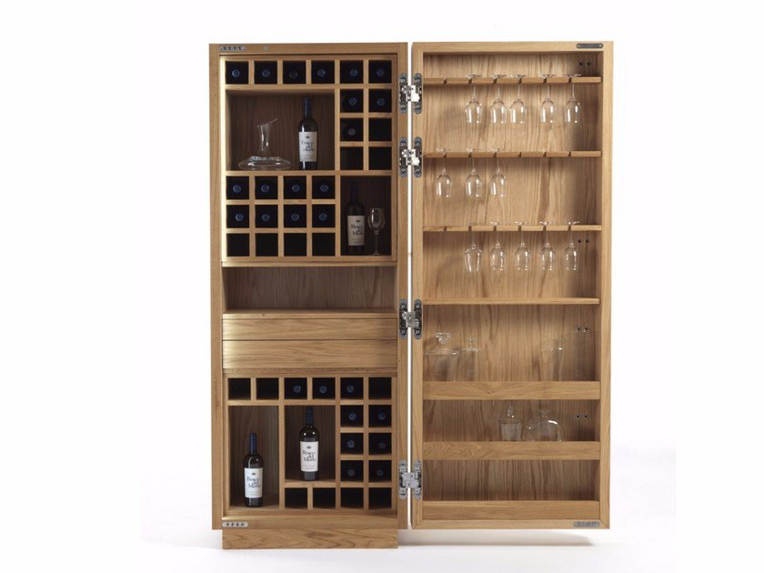Riva 1920 Cambusa Wine Small Jumbo Wooden Bar Cabinet
