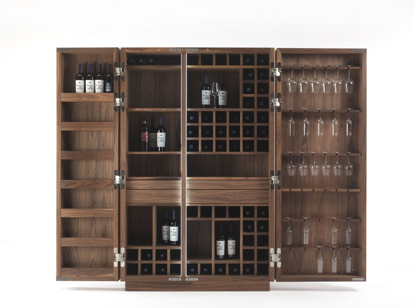 Solid wood bar cabinet CAMBUSA WINE & WINE JUMBO by Riva 1920