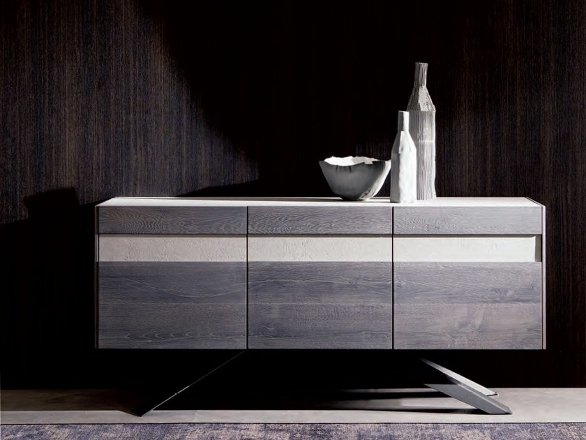 Wooden sideboard with doors CAMDEN by Ozzio Italia