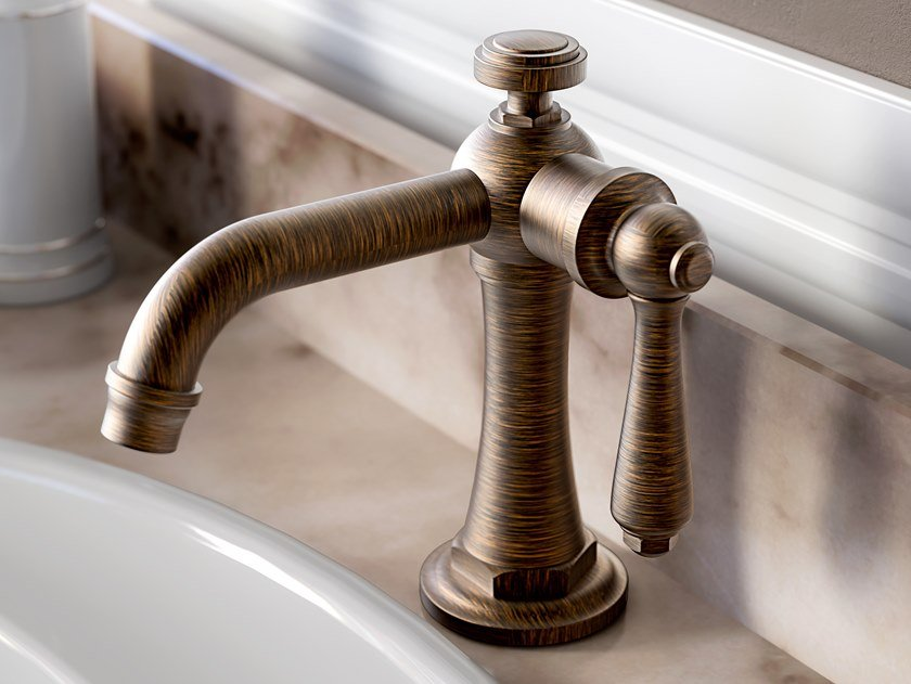 Contemporary style countertop 1 hole metal washbasin mixer without waste CAMDEN | Washbasin mixer by Graff Europe West