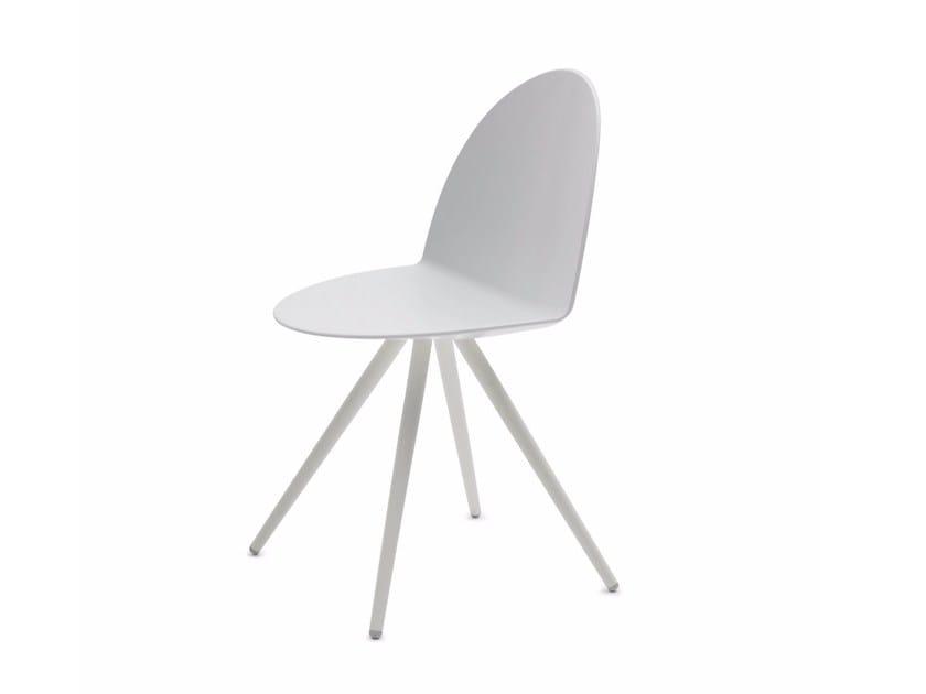 Polypropylene chair CAMEL | Trestle-based chair by Segis