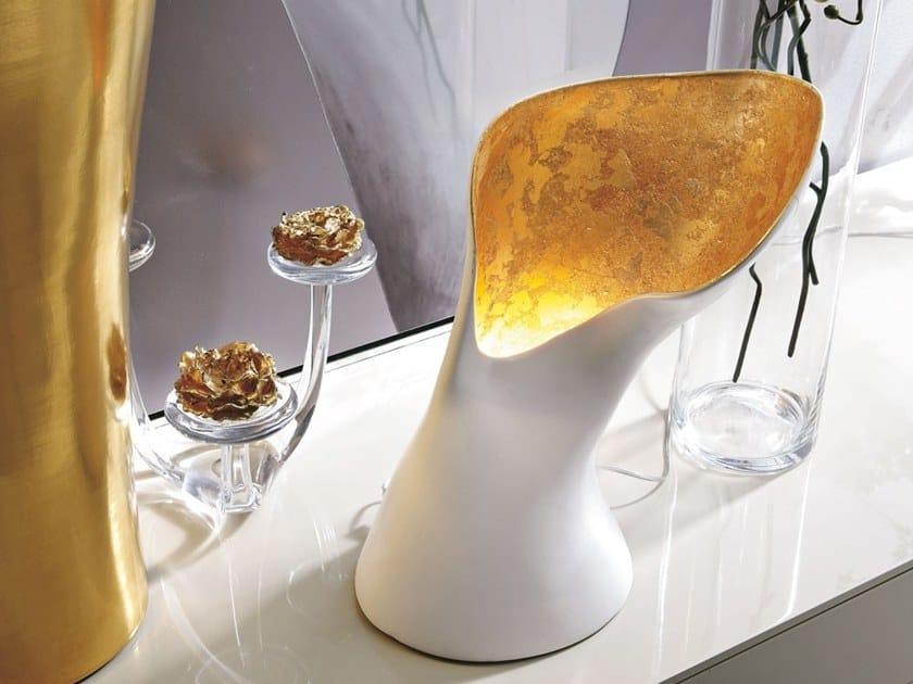 Ceramic table lamp CAMELIA by Adriani e Rossi edizioni