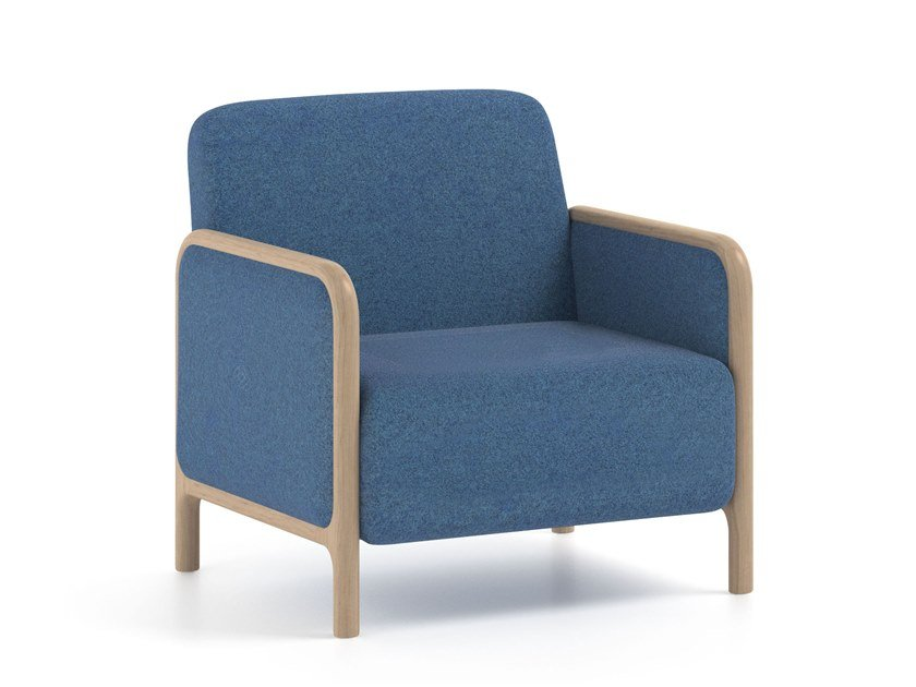 Upholstered fabric armchair with armrests CAMEO | HEALTH & CARE | Armchair by PIAVAL