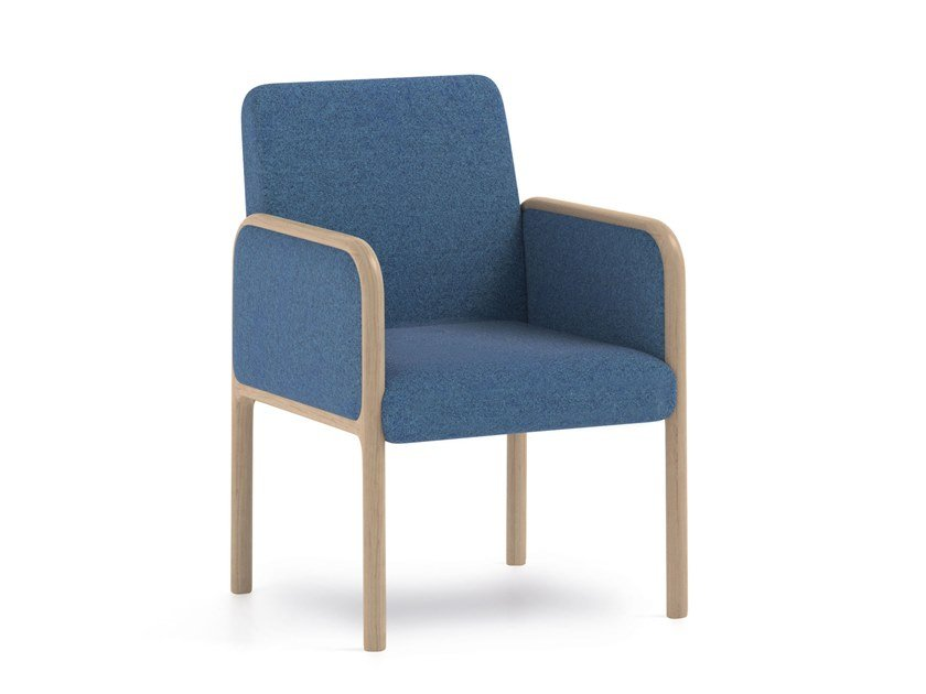 Fabric easy chair with armrests CAMEO | HEALTH & CARE | Easy chair by PIAVAL