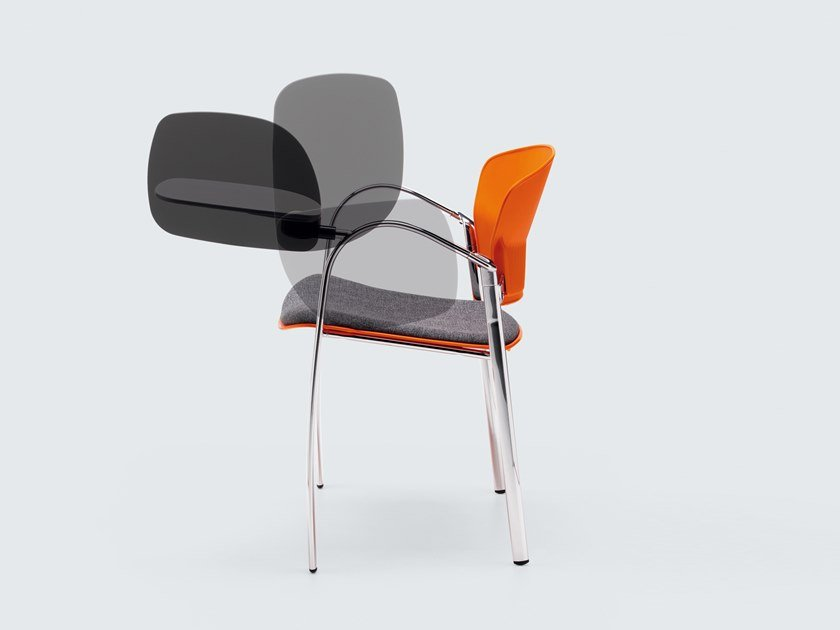 Fabric training chair with writing tablet CAMEO | Training chair by ESTEL GROUP