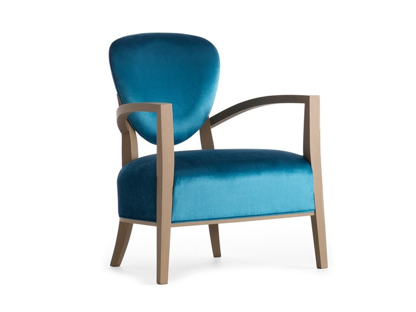 Easy chair with armrests CAMMEO 02641 by Montbel
